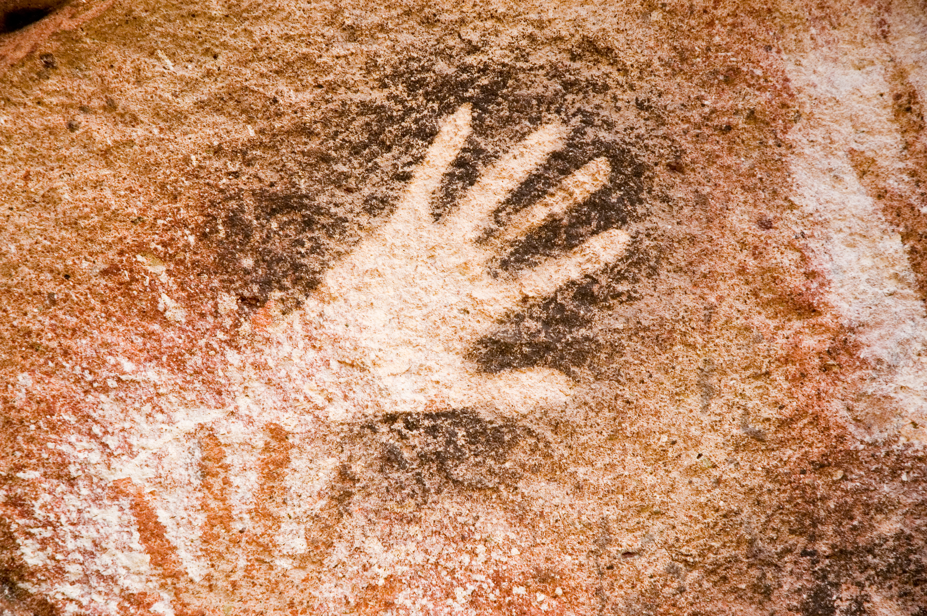 ancient cave painting in patagonia, Argentina.