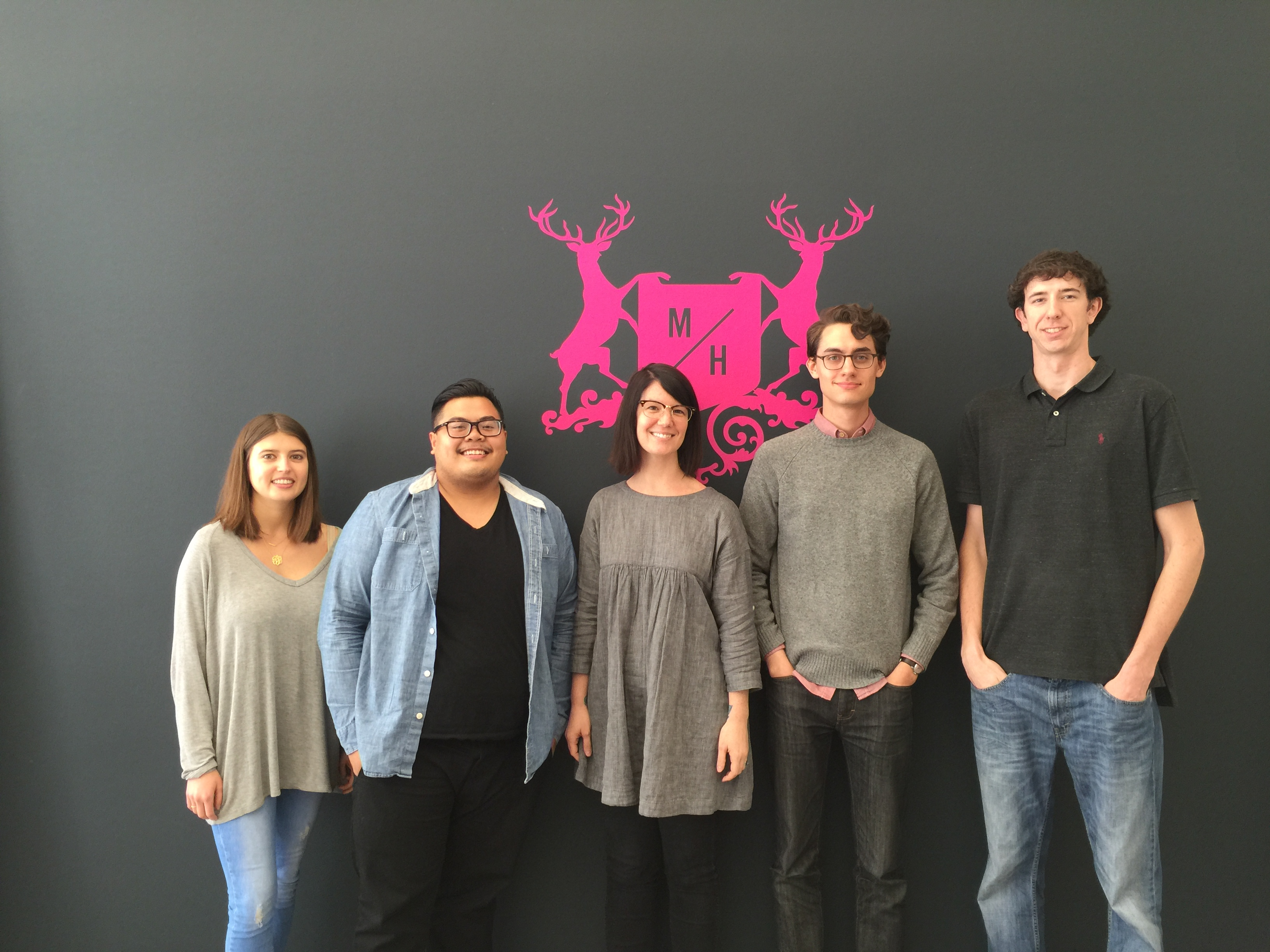 Julia, Greggy, Melissa, Zach, Taylor New Hires