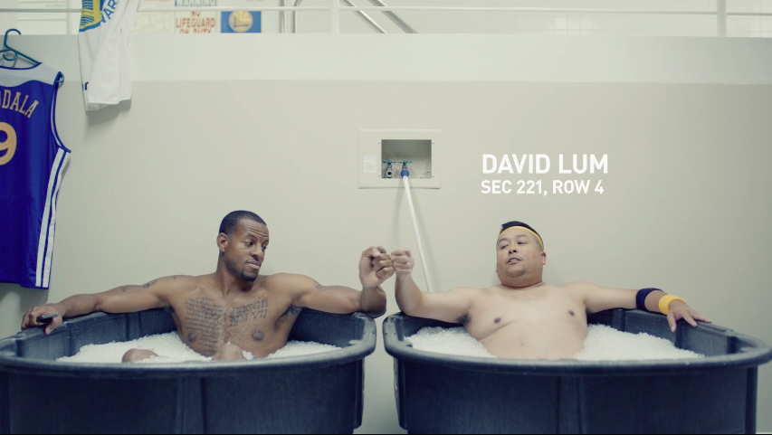 "Golden State Warriors ""Ice Bath"" Commercial"