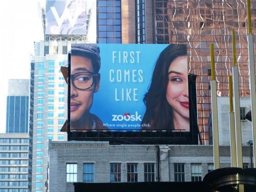 Zoosk First Comes Like Outdoor Billboard